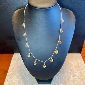 Golden topaz briolette necklace & earrings